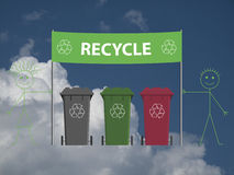 Recycling banner Royalty Free Stock Image