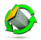 Recycling basket Stock Image