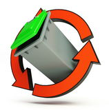 Recycling basket Royalty Free Stock Images