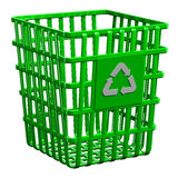 Recycling basket isolated on white background Royalty Free Stock Photography