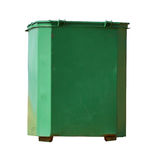 Recycling bin. Green metal recycling bin isolated on the white background. Clipping path included Stock Images