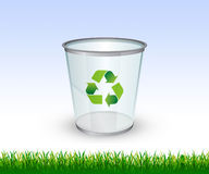 Recycling bin. Go Green theme - Glass Recycling bin vector illustration