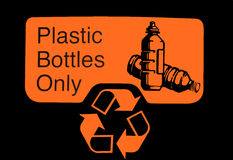 Recycling bin. Logo on outside of recycling bin Stock Images