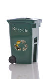 Recycling Bin. Isolated over white with reflections Royalty Free Stock Images