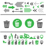 Recycling bin and arrow icon. Vector recycling bin and arrow icon Stock Image