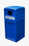 Recycling bin blue plastic can Stock Photography