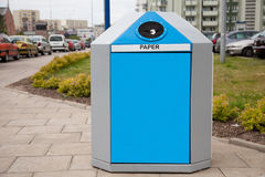 Recycling bin in a city Stock Photography
