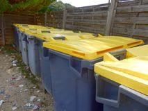 Recycling Bin Compound Royalty Free Stock Photography