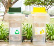 Recycling bin and general bin Royalty Free Stock Image