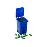 Recycling bin going green Stock Photo