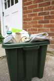 Recycling Bin Outside House Royalty Free Stock Photography