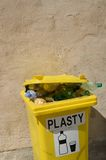 Recycling bin for plastic Stock Photos