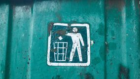 Recycling bin sign Stock Image