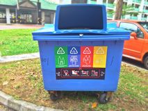 Recycling bin - Singapore Royalty Free Stock Images