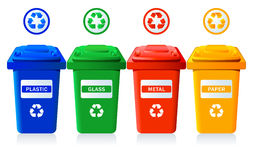 Recycling bins Royalty Free Stock Photography