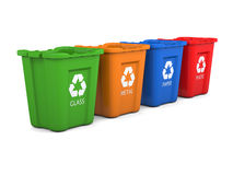 Recycling bins Royalty Free Stock Photos