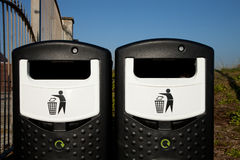Recycling bins. Stock Images