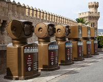 Recycling bins, Majorca Royalty Free Stock Images