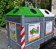 Recycling bins. In Vienna, Austria Stock Images