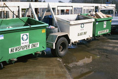 Recycling bins on wheels Stock Photo