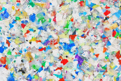 Recycling Board. Closeup of a colourful board made from recycled plastic royalty free stock photography