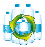Recycling bottles of water. Royalty Free Stock Photography