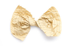 Recycling paper bow Stock Photos