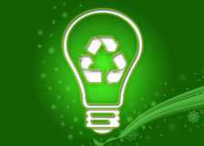 Recycling bulb. Background illustration of recycling bulb Royalty Free Stock Images