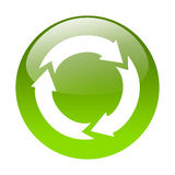 Recycling button Stock Photography
