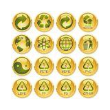 Recycling button. A fully scalable vector illustration of Recycling button Royalty Free Stock Image
