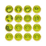 Recycling button Royalty Free Stock Images