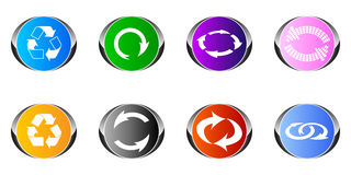 Recycling buttons Royalty Free Stock Photos
