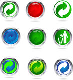 Recycling buttons Royalty Free Stock Photo