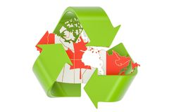 Recycling in Canada concept, 3D rendering. Isolated on white background Stock Images