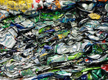 Recycling cans Royalty Free Stock Photo