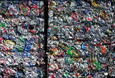 Recycling Cans - Green Planet Royalty Free Stock Photography