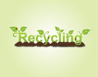 Recycling caption Royalty Free Stock Photos