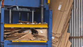 Recycling of cardboard at industrial landfill, ecology concept Stock Photography