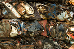 Recycling cars stock photos