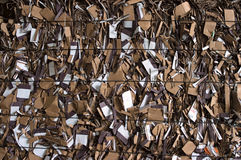Recycling carton bale Royalty Free Stock Photography