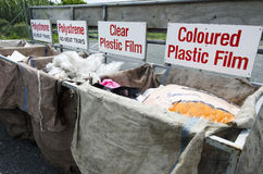 Recycling Center. Plastic waste in recycling and disposal center Royalty Free Stock Photo