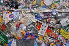 Recycling Center. Protecting Planet Earth by recycling metal and aluminum cans Stock Image