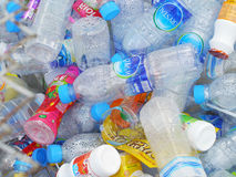 Recycling center collects plastic bottles Stock Image