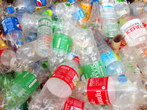 Recycling center collects plastic bottles Royalty Free Stock Photography