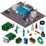 Recycling Center Isometric Design Concept Stock Image