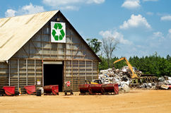 Recycling center with scrap yard Royalty Free Stock Photo