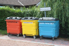 Recycling centre. Colorful recycling centre Stock Images