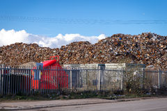 Recycling centre from behind a fence. Stock Photography