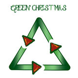 Recycling Christmas background Royalty Free Stock Photography