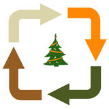 Recycling Christmas tree Stock Photography